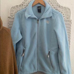 The North Face Baby Blue Full Zip Fleece Jacket M